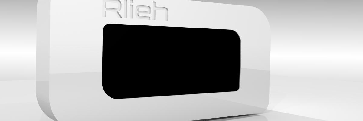 rendu 3D du boîtier écran Rlieh